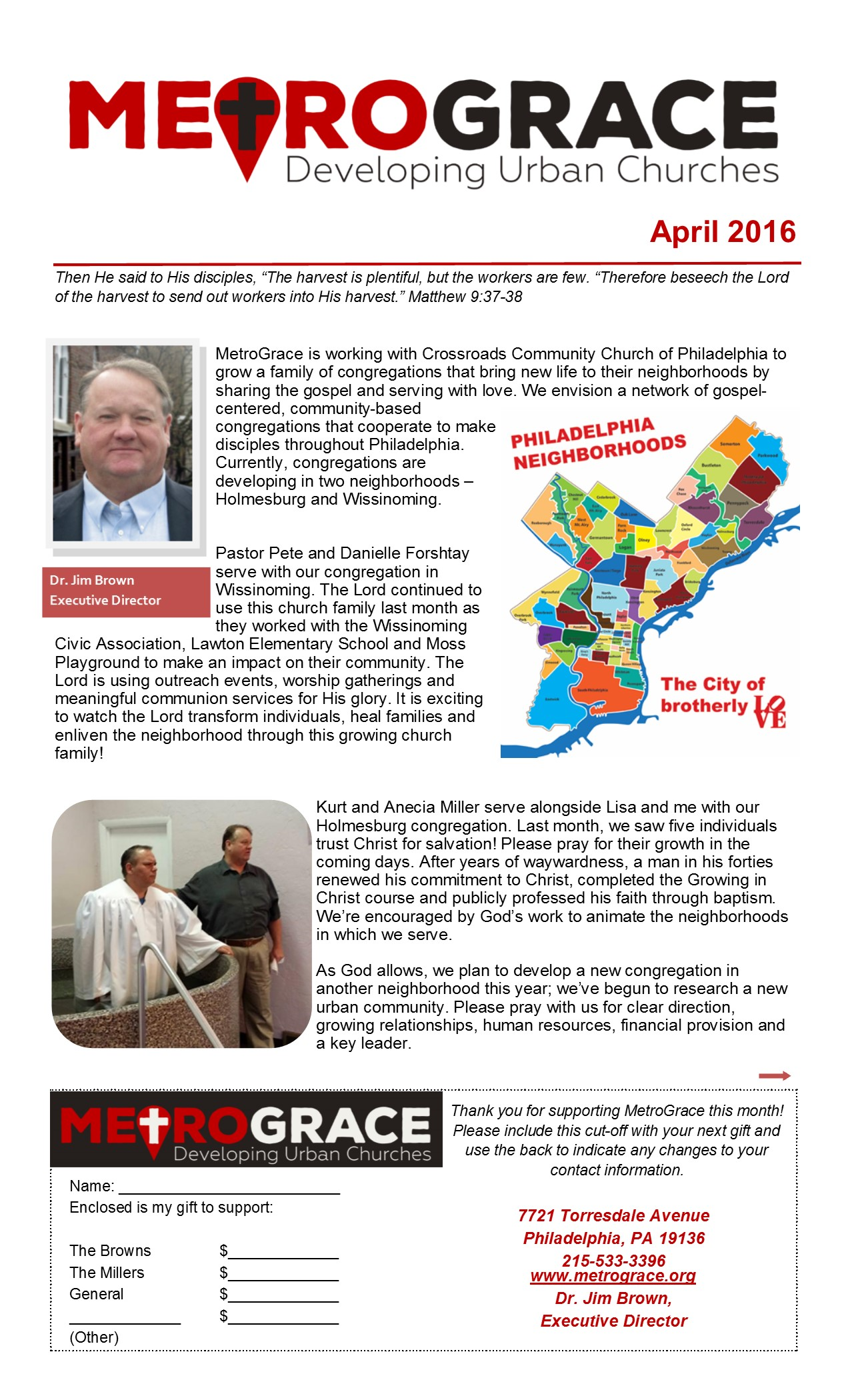 April 2016 Newletter Page 1