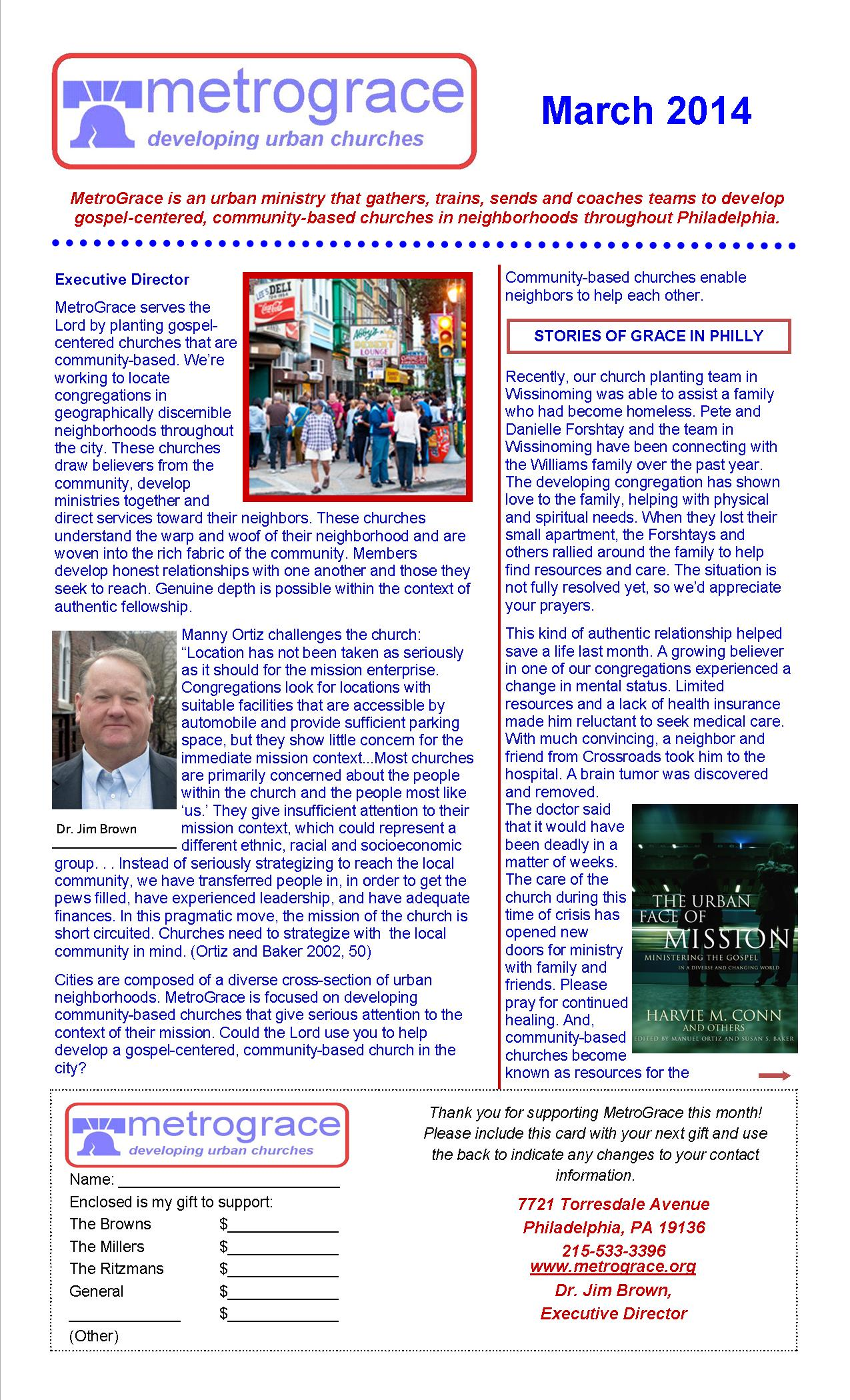 March 2014 Newsletter Page 1